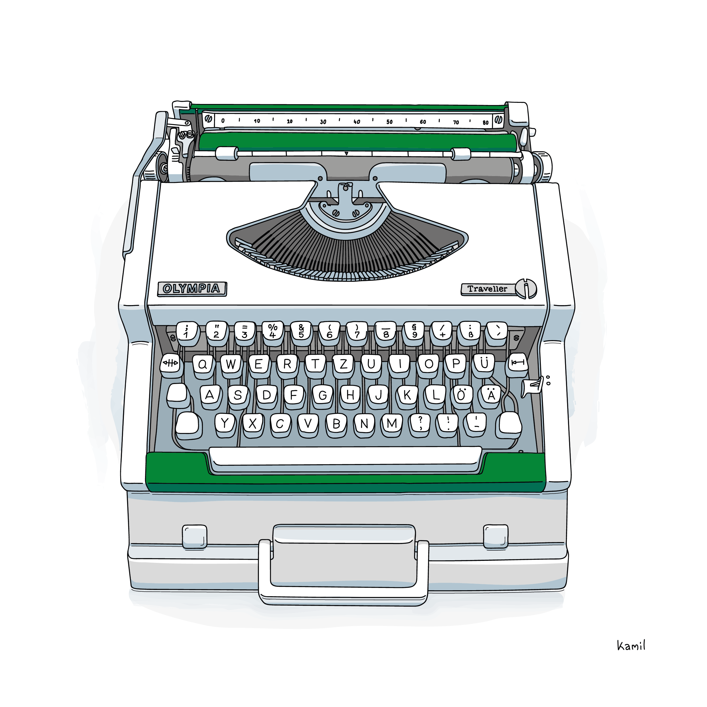 Illustration – Objects – Olympia Typewriter 2/4