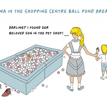 Cartoons – Weekly Cartoon No. 2 – Drama in the Shopping Centre Indoor Ball Pond