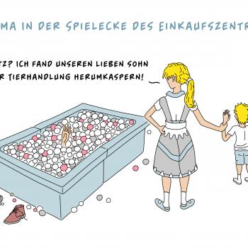 Cartoons – Wöchentlicher Cartoon No. 2 – Drama in der Spielecke des Einkaufszentrums