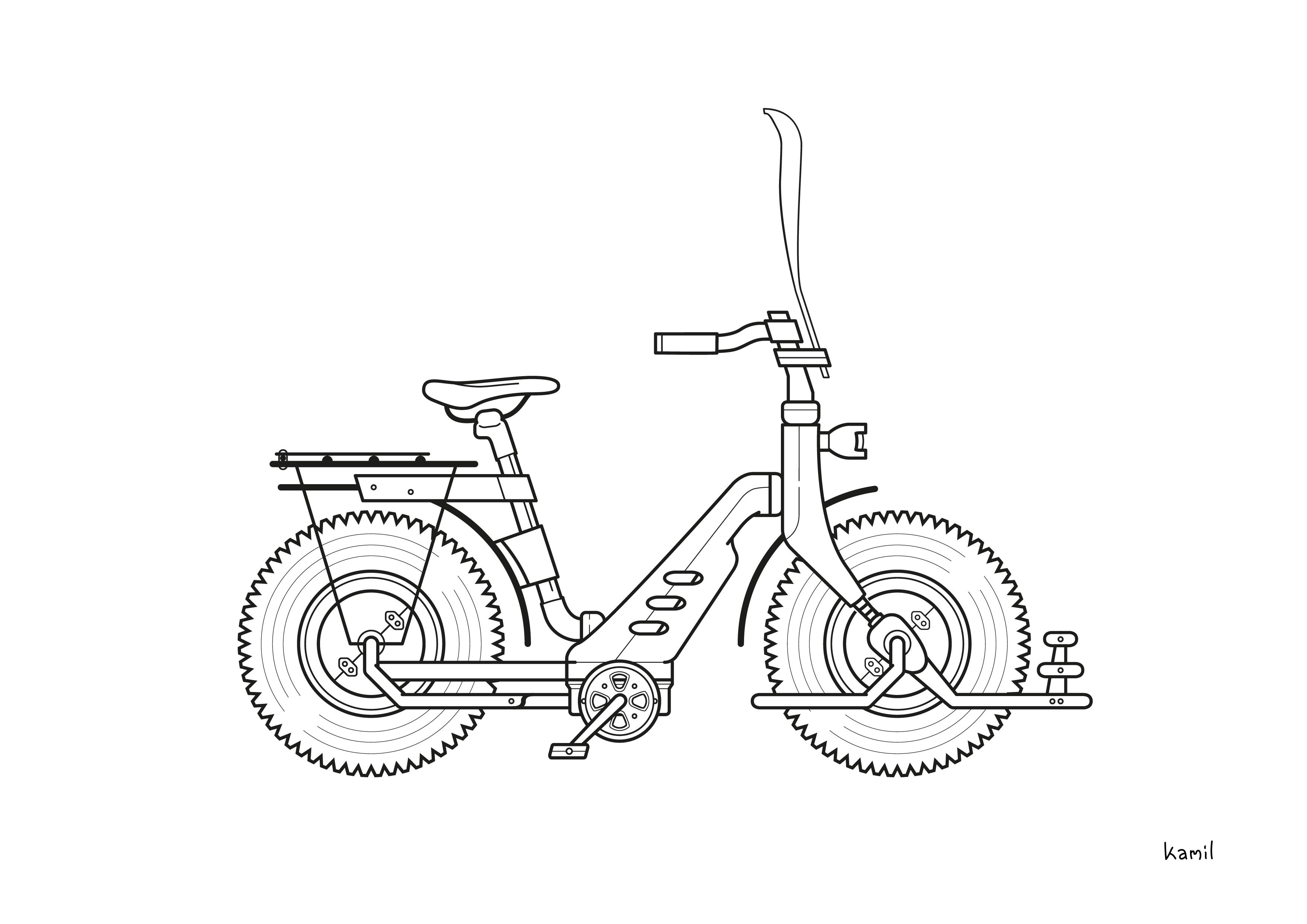 Illustration – Objekte – SUB-Bike (sw-Version)