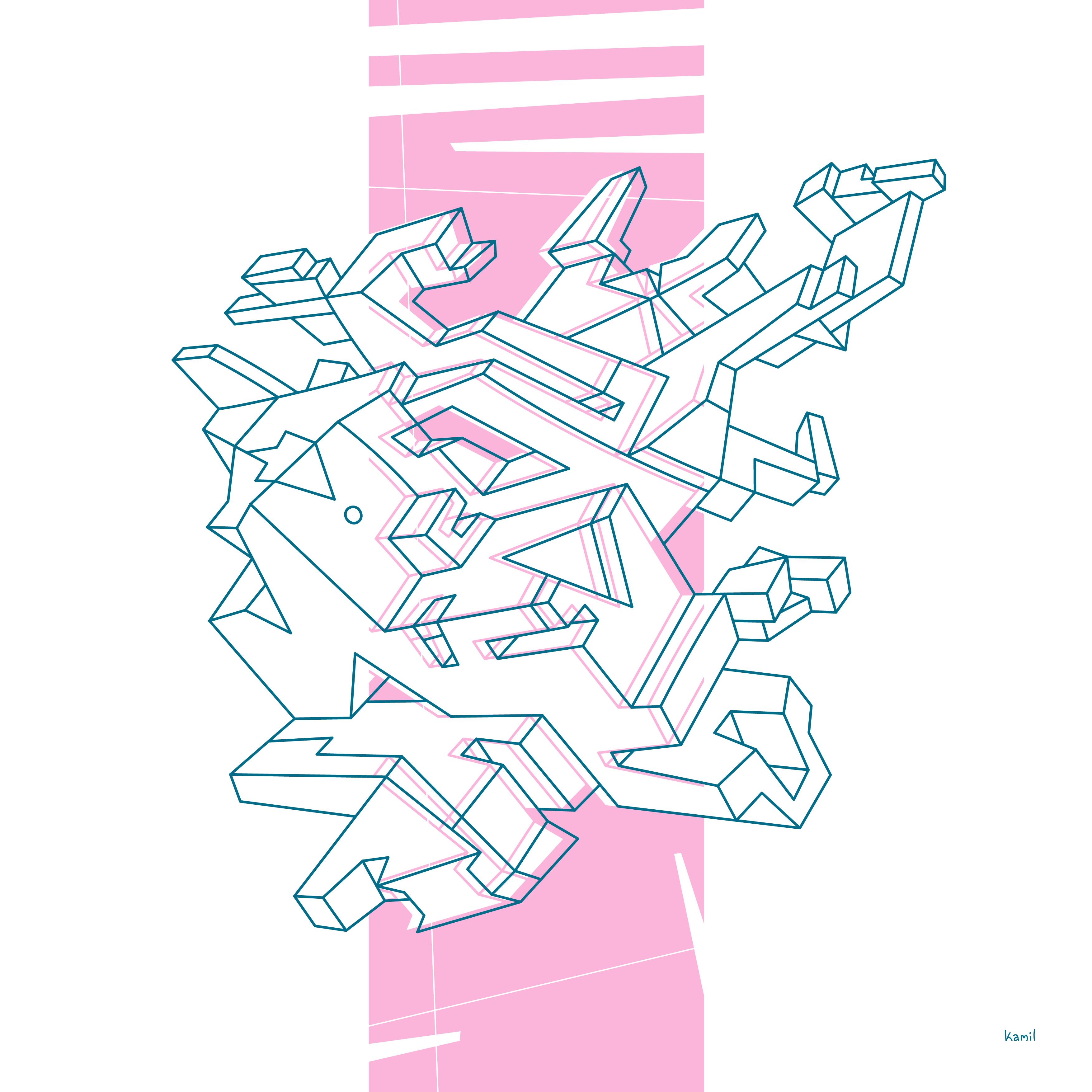 Illustration – Spatial Shapes – No 07 – (v2 version)