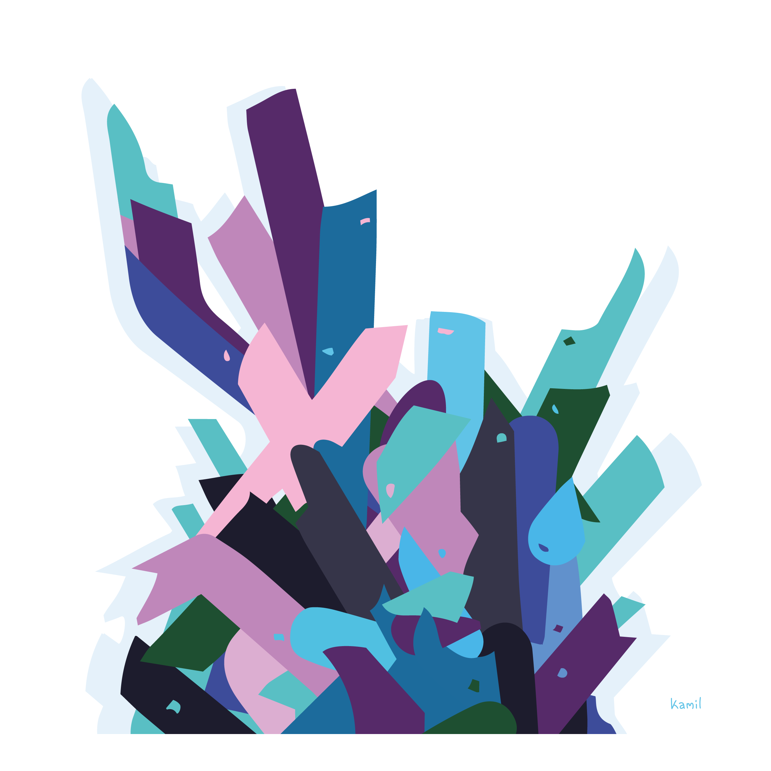 Illustration – Arranged Shapes – No. 1 – Shape Bouquet