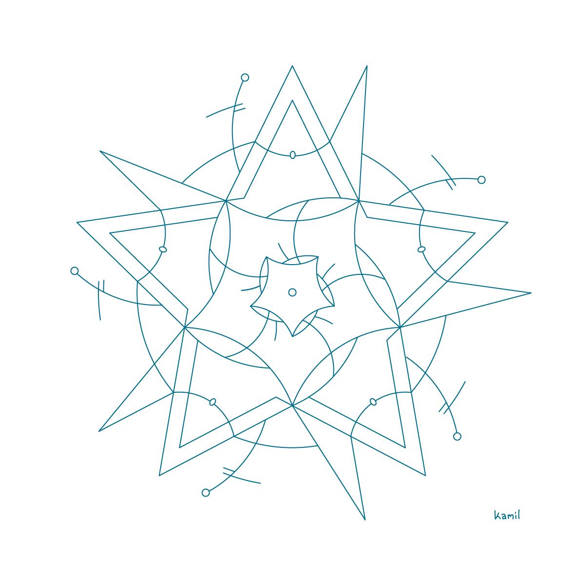 Illustration – Lines in Relation No. 7