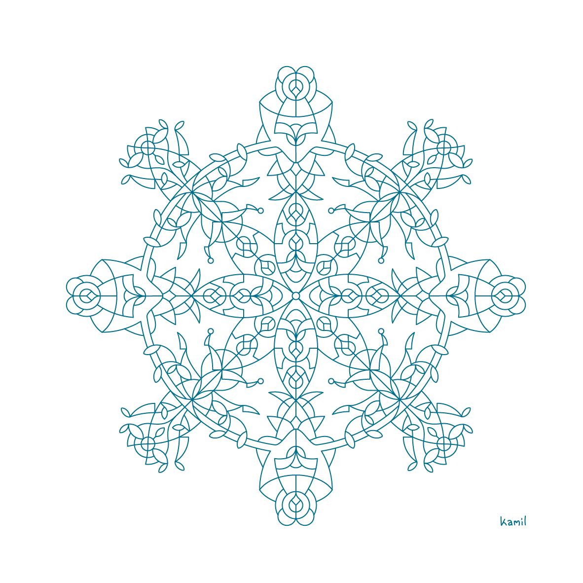 Illustration – Lines in Relation No. 6